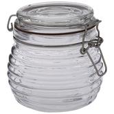Ridged Glass Mason Jar