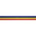 Rainbow Striped Grosgrain Ribbon - 7/8