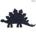 Navy Stegosaurus Wood Wall Decor