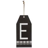 Plaid Tag Letter Wood Wall Decor - E