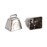 Silver Cow Bells - 1""