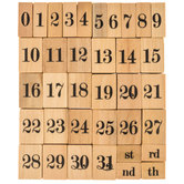 Dates & Numbers Rubber Stamps