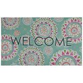 Welcome Bohemian Floral Doormat