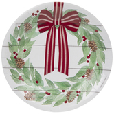 Wreath & Shiplap Paper Plates