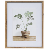 Tropical Leaves In Pot Framed Wall Decor