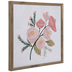 Pink Floral Wood Wall Decor