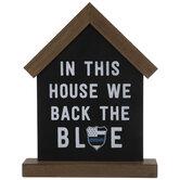 Back The Blue House Wood Decor