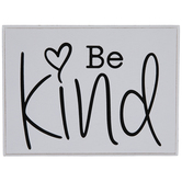Be Kind Heart Wood Decor