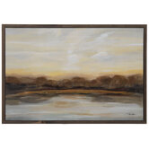 Warm Abstract Landscape Canvas Wall Decor