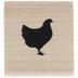 Chicken Rubber Stamp