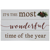 Wonderful Time Of The Year Wood Decor