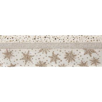 "Glitter Snowflakes Wired Edge Single-Face Satin Ribbon - 2 1/2"""