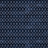 Navy & White Geometric Apparel Fabric