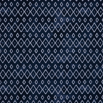 Navy & White Geometric Apparel Fabric