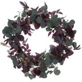 Maroon & Green Leaf Berry Wreath