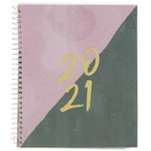2021 Pink & Gray Split Planner - 12 Months