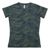Vintage Camo Ladies T-Shirt
