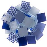 Blue Patchwork Mosaic Tiles