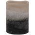 Tan, White & Black Layered LED Pillar Candle - 3