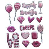 Iridescent Love Puffy Stickers