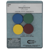 Primary Color Vinyl Magnets - 1""