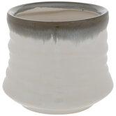 White & Green Ceramic Planter