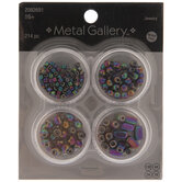 Multi-Color Assorted Metal Beads