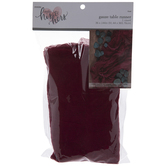 Burgundy Gauze Table Runner