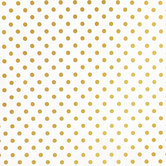 White & Gold Polka Dot Apparel Fabric