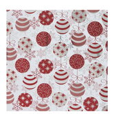 Metallic Red & Silver Ornaments Gift Wrap