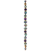 Green & Purple Faceted Bead Strand