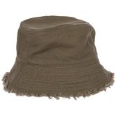 Brown Frayed Edge Bucket Hat