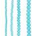 Teal Matte Faceted Glass Bead Strands