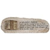 A Soldier's Prayer Stone Decor