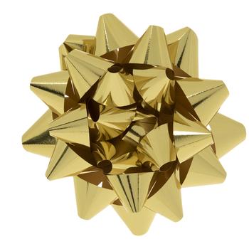 """Metallic Gold Bow - 8"""""""