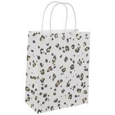 Gold Foil Leopard Print Craft Gift Bags