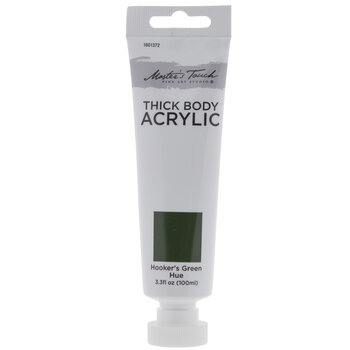 Hooker's Green Hue Master's Touch Thick Body Acrylic Paint - 3.3 Ounce