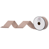 Taupe Silky Cut Edge Ribbon - 1 1/2""