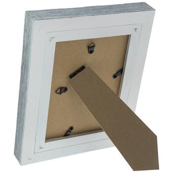 "Crackled White Rustic Wood Frame - 5"" x 7"""