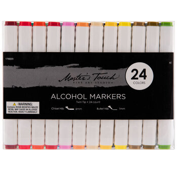 Master's Touch Twin Tipped Alcohol Markers - 24 Piece Set