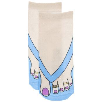 Blue Flip Flop & Feet Socks