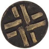 Antique Brass Carved Weave Metal Knob