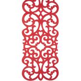 Red Scroll Table Runner