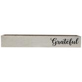 White Grateful Wood Box