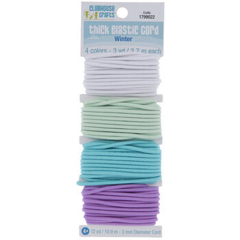3yd Each Of 6 Color 717968166371 Clubhouse Crafts Elastic Cord Thick Sparkle
