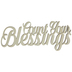 Count Your Blessings Wood Cutout