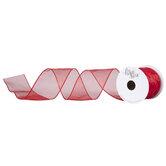 "Wired Edge Sheer Ribbon - 2 1/2"""
