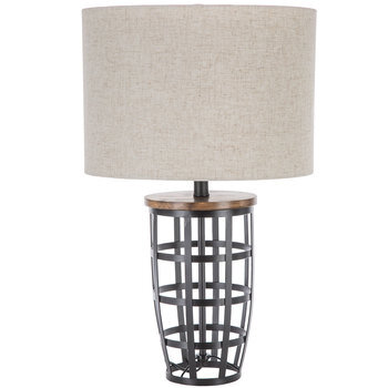 Cage Base Metal Lamp