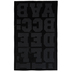 Black Sports Flocked Iron-On Applique Alphabet - 2
