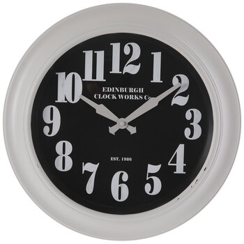 Beige & Black Edinburgh Wall Clock